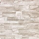 Vinylové tapety na zeď Bluff kamenný obklad světle hnědý