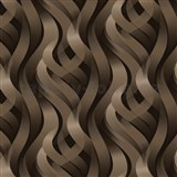 Vinylové tapety Kinetic 3D abstrakt hnědý