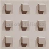 Vliesové tapety Kinetic 3D kostky světle hnědé