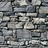 Vinylové tapety Virtual Reality kamenná zeď šedo-modrá