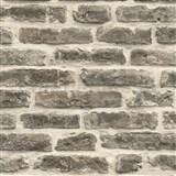 Papírové tapety na zeď IMPOL cihlová zeď šedo-hnědá