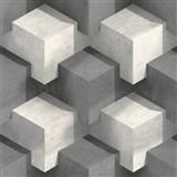 Vliesové tapety na zeď 3D kostky bílo-černé