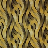 Vliesové tapety na zeď Kinetic 3D abstrakt okrovo-hnědý