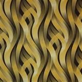 Vinylové tapety na zeď Kinetic 3D abstrakt okrovo-hnědý
