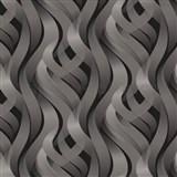 Vinylové tapety na zeď Kinetic 3D abstrakt šedý