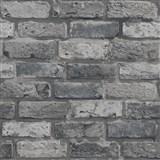 Papírové tapety na zeď IMPOL cihla šedá