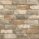 Papírové tapety na zeď IMPOL cihla hnědá