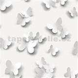 Vinylové tapety na zeď Just Like It 3D motýli -šedé