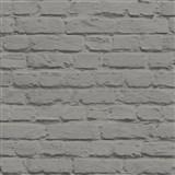 Vinylové tapety na zeď Just Like It kamenná zeď šedá