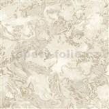 Vliesové tapety na zeď IMPOL Reflets mramor bílo-béžový s niklovými odlesky