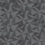 Vliesové tapety na zeď IMPOL nepravidelný geometrický vzor černo-stříbrný