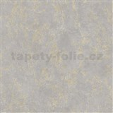 Vinylové tapety na zeď IMPOL strukturovaná omítkovina šedá se zlatými odlesky