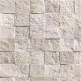 Vliesové tapety na zeď Roll in Stones kamenná mozaika hnědá se třpytem