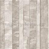 Vliesové tapety na zeď Roll in Stones kamenná stěna světle hnědá