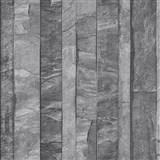 Vliesové tapety na zeď Roll in Stones kamenná stěna šedo-hnědá