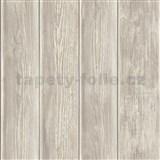 Papírové tapety na zeď IMPOL dřevěnný obklad hnědo-šedý