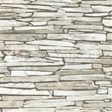 Papírové tapety na zeď IMPOL ukládaný kámen světle šedý