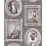Vliesové tapety na zeď Replik Animal Portraits sépia - SLEVA
