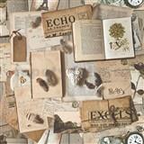 Vliesové tapety na zeď Replik retro knihy a noviny zelené