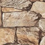 Vliesové tapety na zeď Roll in Stones štípaný kámen hnědý