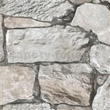 Vliesové tapety na zeď Roll in Stones štípaný kámen šedý