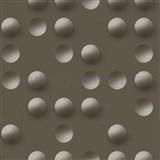 Vliesové tapety na zeď Just Like It 3D kuličky tmavě hnědé
