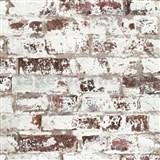 Vliesové tapety na zeď Virtual Vision cihla s bílou malbou