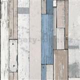 Vliesové tapety na zeď Virtual Vision dřevěné latě modré