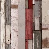Vliesové tapety na zeď Virtual Vision dřevěné latě hnědo-červené