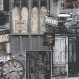 Vliesové tapety na zeď Virtual Vision Coffee hnědo-šedé