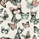 Vliesové tapety na zeď Virtual Vision motýli barevní
