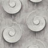 Vliesové tapety na zeď Virtual Vision 3D spirály šedé