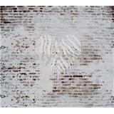 Luxusní vliesové fototapety cihlová zeď, rozměr 300 cm x 270 cm