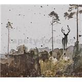 Luxusní vliesové fototapety jelen BEZ TEXTU, rozměr 300 cm x 270 cm
