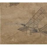 Luxusní vliesové fototapety letadlo BEZ TEXTU, rozměr 300 cm x 270 cm