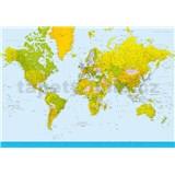 Fototapety Map of the World rozměr 366 cm x 254 cm - POSLEDNÍ KUSY