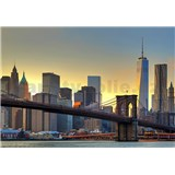 Fototapety Brooklyn Bridge At Sunset rozměr 366 cm x 254 cm