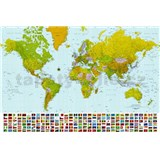 Fototapety Map of the World rozměr 366 cm x 254 cm