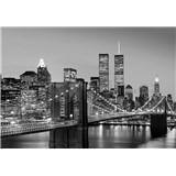 Fototapety Manhattan Skyline at Night rozměr 366 cm x 254 cm - POSLEDNÍ KUSY