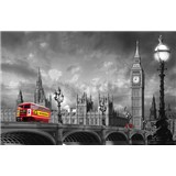 Fototapety Bus on Westminster Bridge rozměr 175 cm x 115 cm