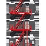 Fototapety Fire Escape rozměr 183 cm x 254 cm