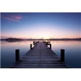 Vliesové fototapety molo Pier At Sunrise rozměr 366 cm x 254 cm - POSLEDNÍ KUSY