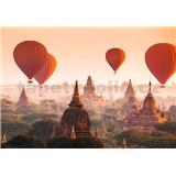 Vliesové fototapety balóny Ballons Over Bagan rozměr 366 cm x 254 cm