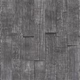 Vliesové tapety IMPOL Wood and Stone 2 3D dřevěný obklad šedo-černý