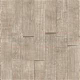 Vliesové tapety IMPOL Wood and Stone 2 3D dřevěný obklad světle hnědý