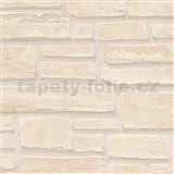 Vliesové tapety IMPOL Wood and Stone 2 cihla béžová