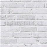 Vliesové tapety IMPOL Wood and Stone 2 cihly světle šedé