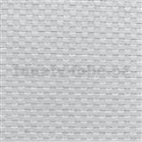 Vliesové tapety na zeď XXL vzor lýko bílé MEGA ROLL návin 15m