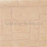 Vinylové tapety na zeď Adelaide kameny světle hnědé
