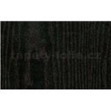 Samolepící tapeta černé dřevo - 67,5 cm x 15 m